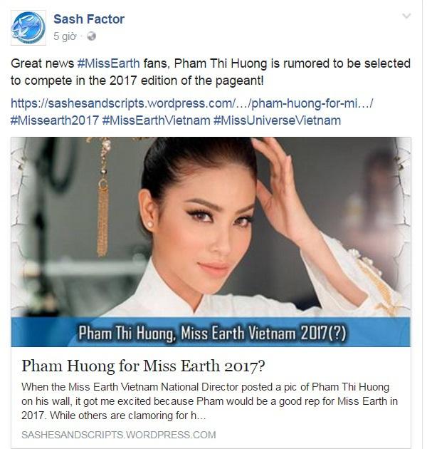 Phạm Hương thi hoa hậu trái đất 17