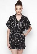 Quần Shorts Mặc Kèm Áo Sơ Mi Pijama