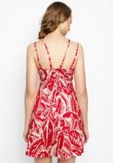 Đầm Dây Họa Tiết Đỏ